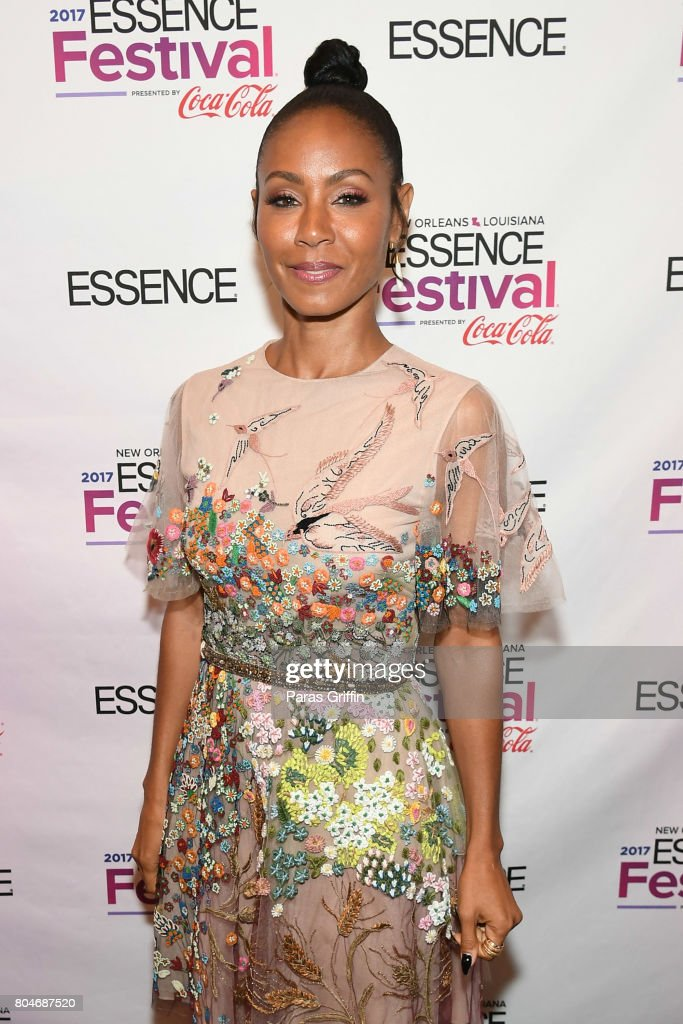 Jada Pinkett Smith poses backstage the 2017 ESSENCE Festival presented by Coca-Cola at Ernest N. Morial Convention Center on June 30, 2017 in New Orleans, Louisiana.