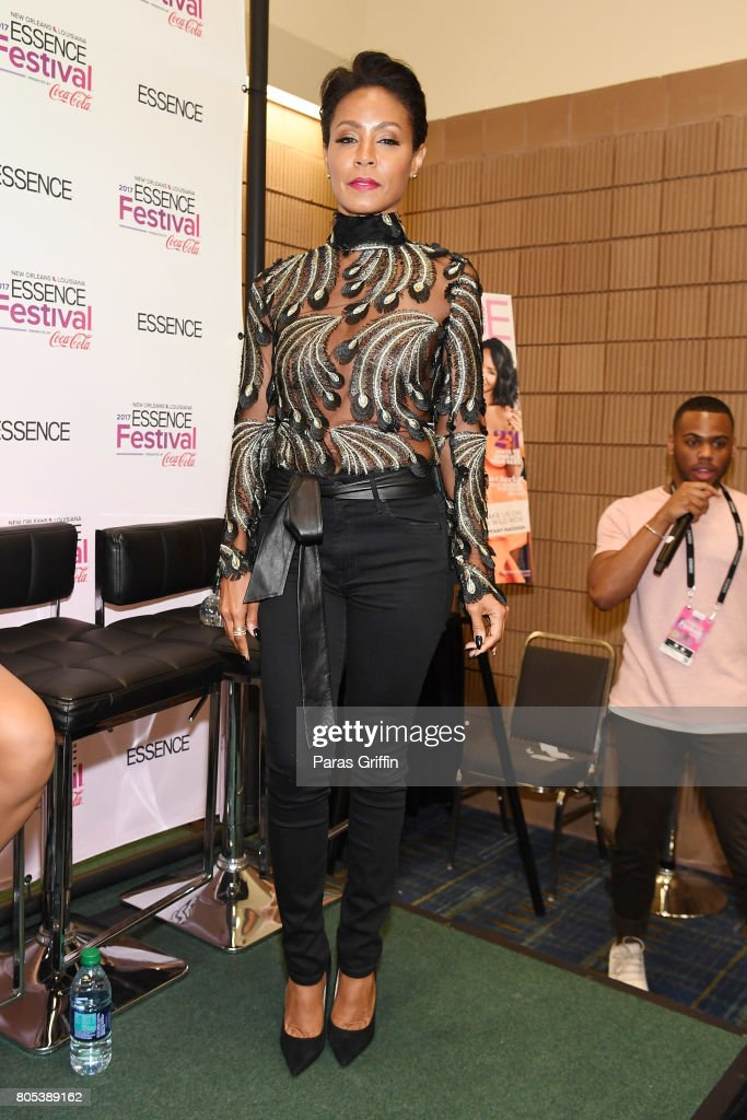 Jada Pinkett Smith poses in the press room at the 2017 ESSENCE Festival presented by Coca-Cola at Ernest N. Morial Convention Center on July 1, 2017 in New Orleans, Louisiana.
