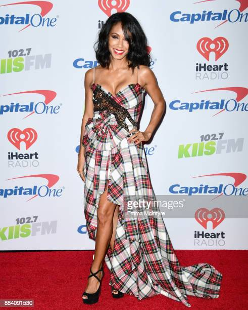 Jada Pinkett Smith poses in the press room during 1027 KIIS FM's Jingle Ball 2017 presented by Capital One at The Forum on December 1 2017 in...