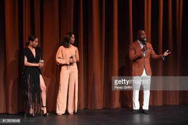 Jada Pinkett Smith Regina Hall and Will Packer onstage at 'Girls Trip' Atlanta special screening at SCADshow on July 11 2017 in Atlanta Georgia