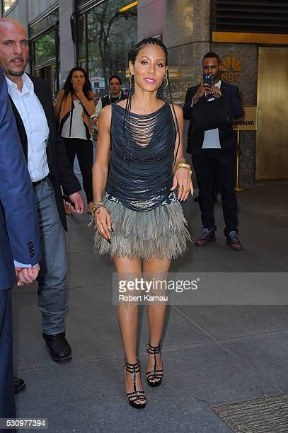 Jada Pinkett Smith seen leaving the NBC Building after attending 'The Tonight Show Starring Jimmy Fallon' on May 10 2016 in New York City