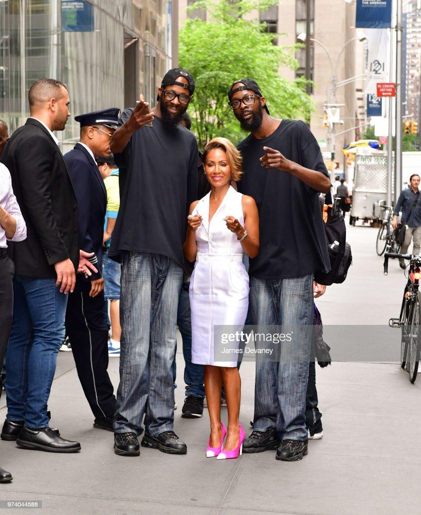 Jada Pinkett Smith seen on the streets of Manhattan on June 13, 2018 in New York City.