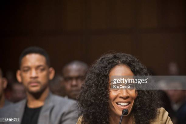 Jada Pinkett Smith speaks during the The Next Ten Years In The Fight Against Human Trafficking Attacking The Problem With The Right Tools committee...