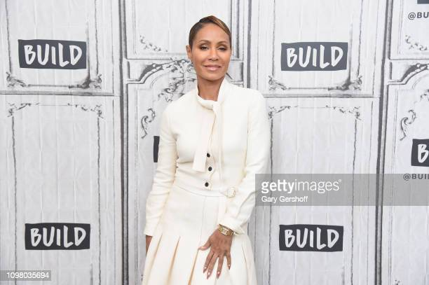 Jada Pinkett Smith visits the Build Series to discuss the web TV talk show 'Red Table Talk' at Build Studio on January 22 2019 in New York City