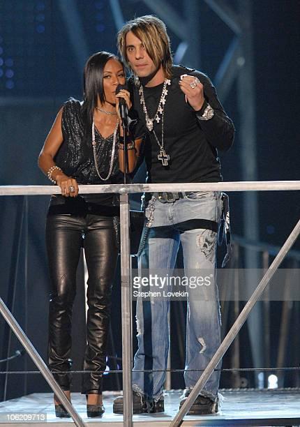 Jada PinkettSmith and Criss Angel presenters during 2007 VH1 Rock Honors Show at Mandalay Bay in Las Vegas Nevada United States