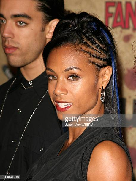 Jada PinkettSmith and her band Wicked Wisdom during Fuse Fangoria Chainsaw Awards Arrivals at Orpheum Theatre in Los Angeles California United States
