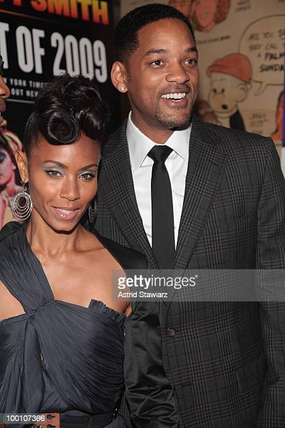 """Jada Pinkett-Smith and Will Smith attend the post-theater reception for """"FELA!"""" at The Palm West on May 20, 2010 in New York City."""