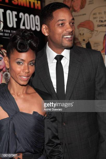 """Jada Pinkett-Smith and Will Smith attends the post-theater reception for """"FELA!"""" at The Palm West on May 20, 2010 in New York City."""
