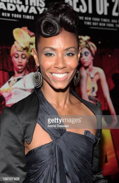 """Jada Pinkett-Smith attends the post-theater reception for """"FELA!"""" at The Palm West on May 20, 2010 in New York City."""