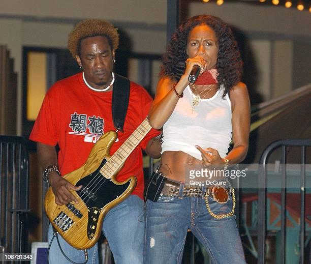 Jada PinkettSmith during Jada PinkettSmith and Wicked Wisdom Perform Live at the Free Summer Music Series at The Grove at The Grove in Los Angeles...