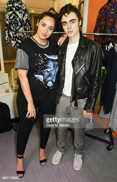 Jada Sezer and Lennon Gallagher attend the launch of Wonderland Magazine's popup shop at 192 Piccadilly on January 19 2017 in London England
