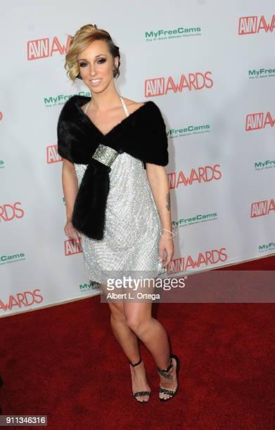Jada Stevens attends the 2018 Adult Video News Awards held at Hard Rock Hotel Casino on January 27 2018 in Las Vegas Nevada