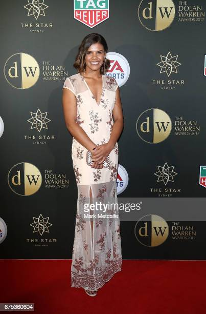 Jada Whyman arrives ahead of the FFA Dolan Warren Awards at The Star on May 1 2017 in Sydney Australia