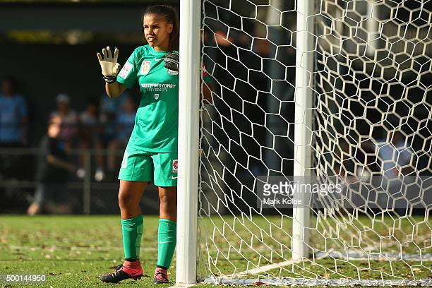 Jada Whyman of the Wanderers gives instructions to her team mates during the round eight WLeague match between Sydney FC and the Western Sydney...