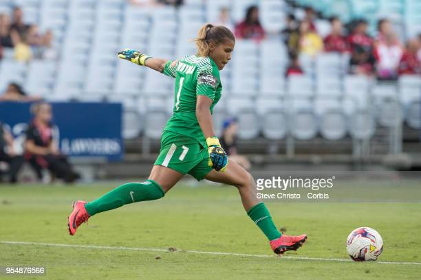 Jada Whyman of the Wanderers kicks the ball during the round nine WLeague match between the Western Sydney Wanderers and Melbourne City at ANZ...