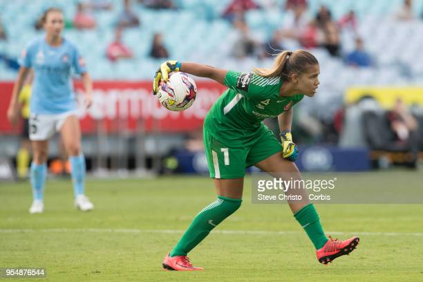 Jada Whyman of the Wanderers passes the ball during the round nine WLeague match between the Western Sydney Wanderers and Melbourne City at ANZ...