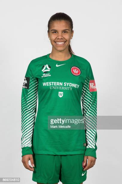 Jada Whyman poses during the Western Sydney Wanderers 2017/18 WLeague headshots session on November 2 2017 in Sydney Australia