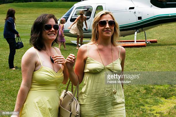 Jada Yuan and Poppy Harlow attend Escape The City Picnic with RUINART Champagne at Vanderbilt Estate on June 25 2007 in ScarboroughonHudson NY