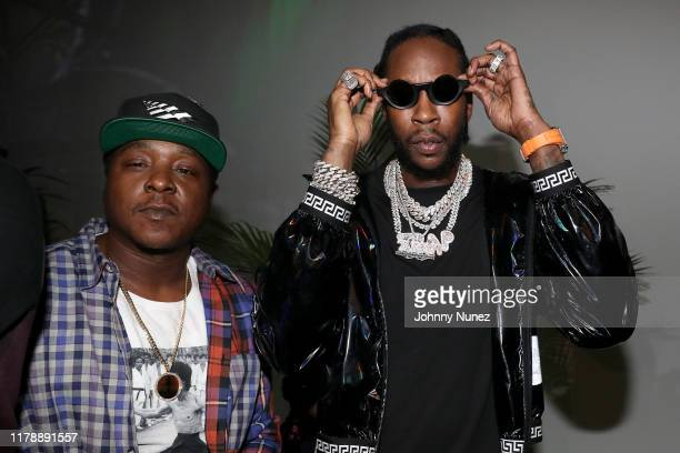 Jadakiss and 2 Chainz attend the Def Jam 35 Night Market on October 03 2019 at Villain in Brooklyn