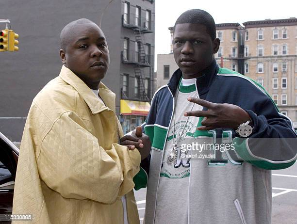 Jadakiss and BlackChild of the Inc during Jadakiss Video Shoot May 5 2004 at Harlem in New York City New York United States