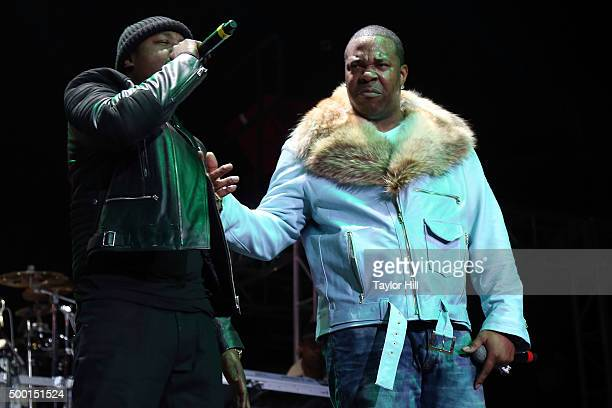"""Jadakiss and Busta Rhymes perform during Hot 97's """"Busta Rhymes and Friends: Hot for the Holidays"""" at Prudential Center on December 5, 2015 in..."""