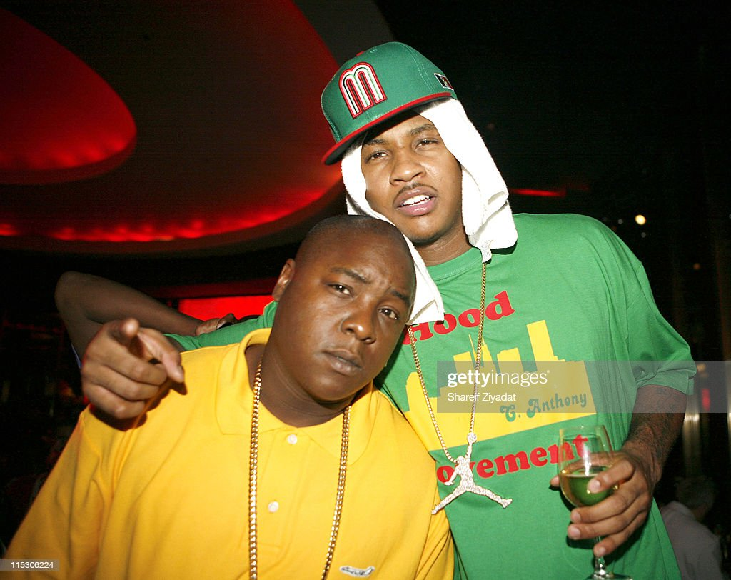 Jadakiss and Caremlo Anthony during Jay-Z Celebrates the 10th Anniversary of 'Reasonable Doubt' - Inside at Rainbow Room in New York, United States.