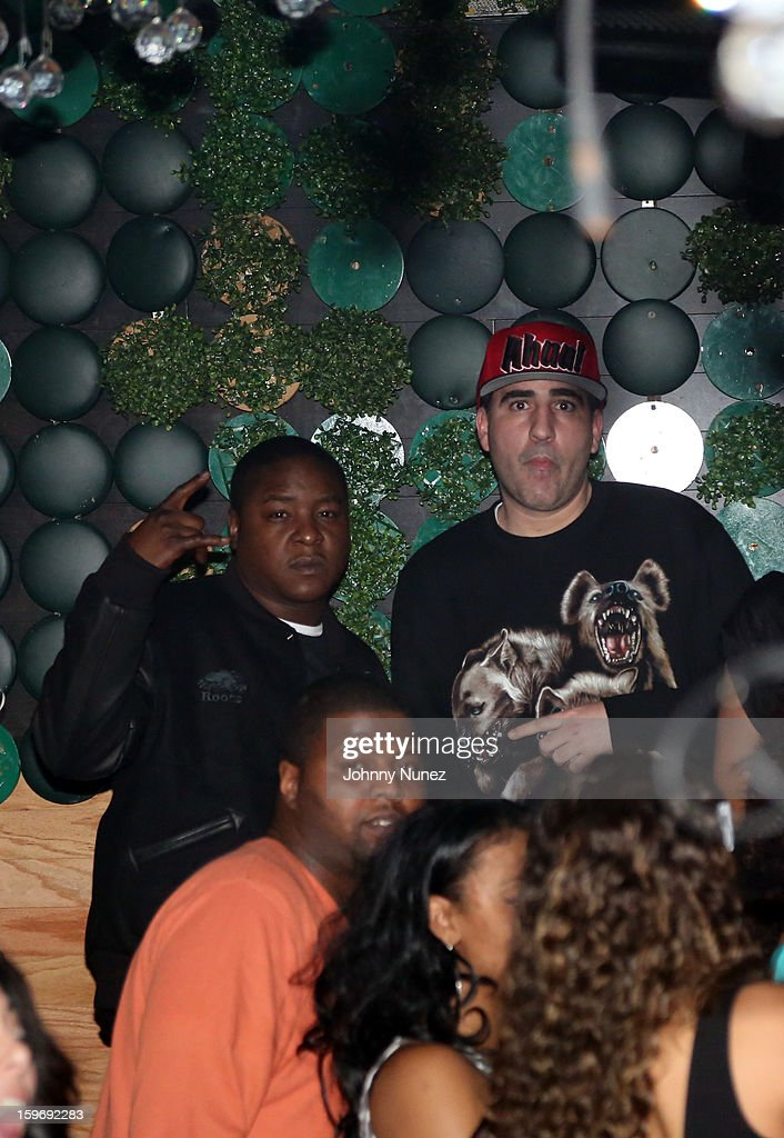 Jadakiss and DJ Killa Touch attend Barry Mullineaux's Birthday Party at Greenhouse on January 17, 2013 in New York City.