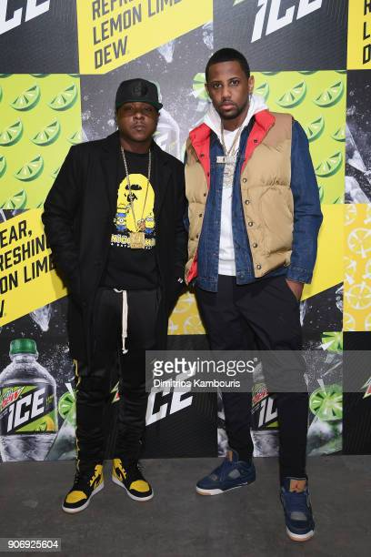 Jadakiss and Fabolous attend the Mtn Dew ICE launch event on January 18 2018 in Brooklyn New York