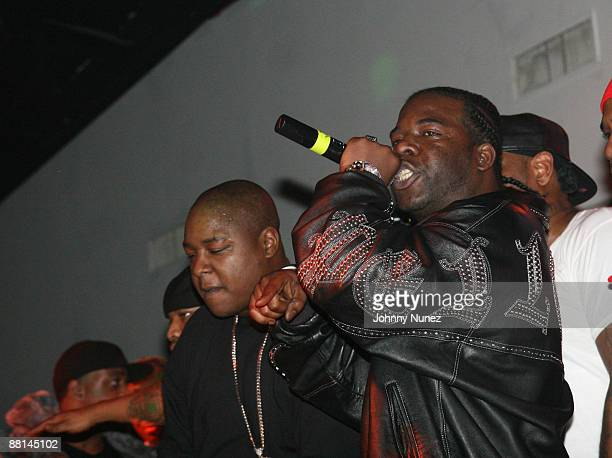 """Jadakiss and Hell Rell attends Sheek Louch's """"Silverback Gorilla"""" Album Release Party March 19, 2008 at SOFA Lounge in New York City."""