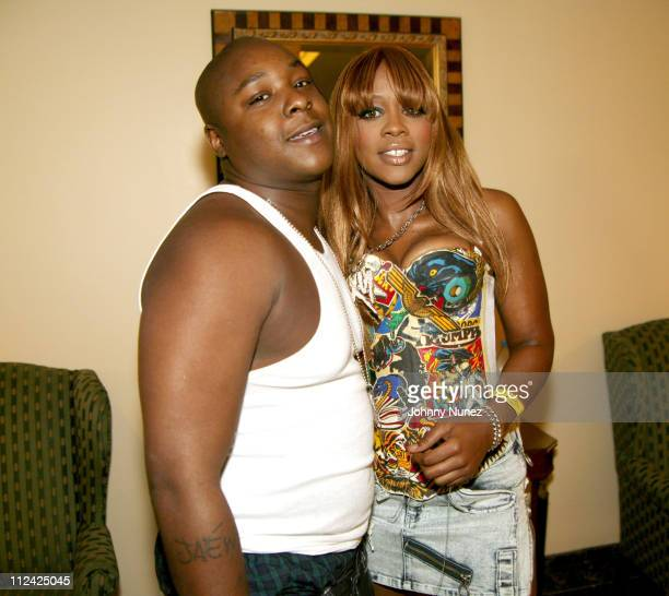 Jadakiss and Remy Martin during Hot 97 Summer Jam 2004 Backstage at Giants Stadium in New York City New York United States