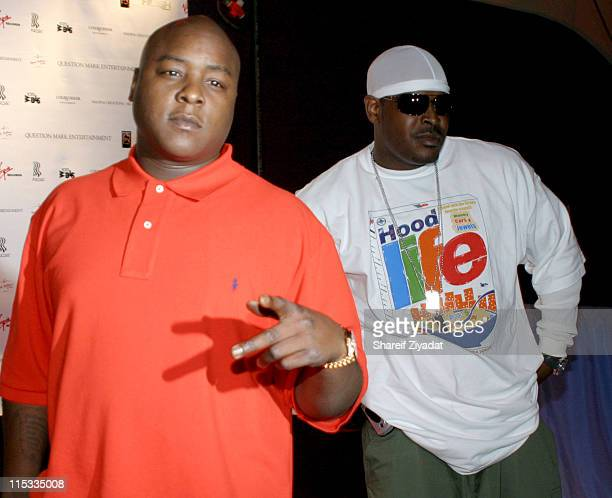 JadaKiss and Sheek Louch during 'Wendy Williams Brings The Heat Vol 1' Release Party at Quo in New York City New York United States