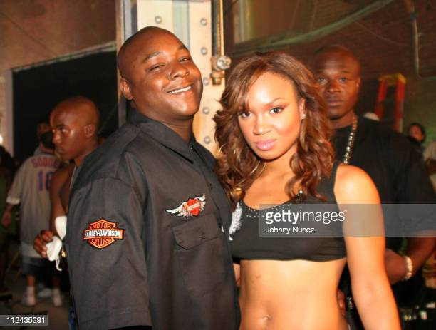 Jadakiss and Yummy during Yummy 'Come and Get It' Video Shoot Featuring Jadakiss July 19 2005 at 27th Street 11th Avenue in New York New York United...