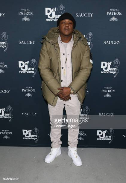Jadakiss attends as Def Jam Recordings Celebrates the Holidays with Patron Tequila at Spring Place on December 14 2017 in New York City
