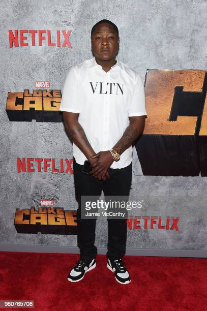 Jadakiss attends the 'Luke Cage' Season 2 premiere at The Edison Ballroom on June 21 2018 in New York City
