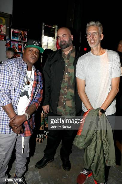 Jadakiss Paul Rosenberg and DJ Stretch Armstrong attend and XX the Def Jam 35 Night Market on October 03 2019 at Villain in Brooklyn
