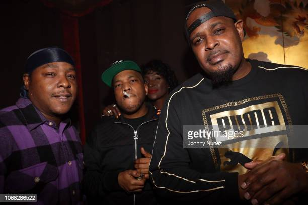 Jadakiss Styles P Adjua Styles and Sheek Louch backstage at Irving Plaza on December 3 2018 in New York City