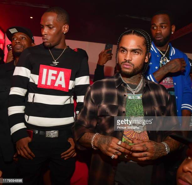 Jadarius Jenkins and Dave East attend JeezyLil Baby Birthday Celebration at Compound on October 6 2019 in Atlanta Georgia