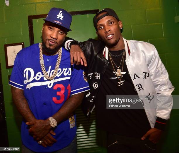 Jadarius Jenkins and Young Jeezy attend Jeezy In Concert at The Tabernacle on March 22 2017 in Atlanta Georgia