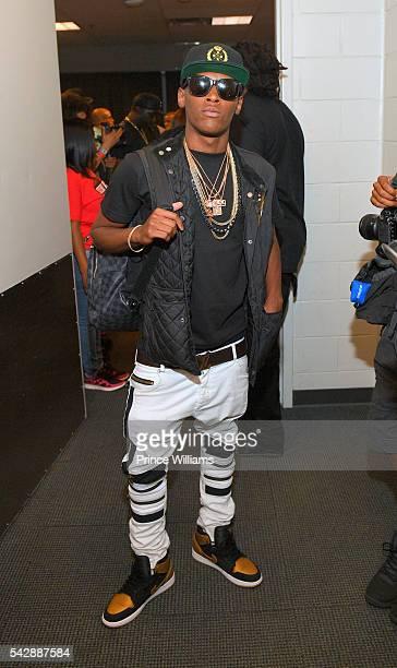 Jadarius Jenkins poses backstage at Birthday Bash at Philips Arena on June 18 2016 in Atlanta Georgia