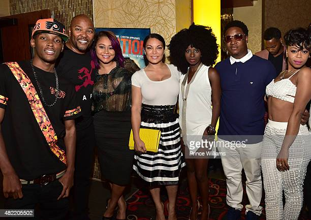 Jadarius Jenkins Ryan Cameron Khadiyah Egypt Sherrod Mushiya Tshikuka Yung Joc and Shay Buckeey' Johnson attends Vacation Vip Reception/Movie...