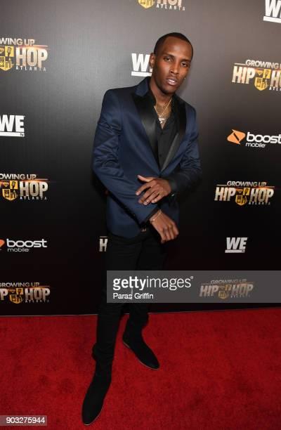 Jadarius YB Jenkins attends 'Growing Up Hip Hop Atlanta' season 2 premiere party at Woodruff Arts Center on January 9 2018 in Atlanta Georgia