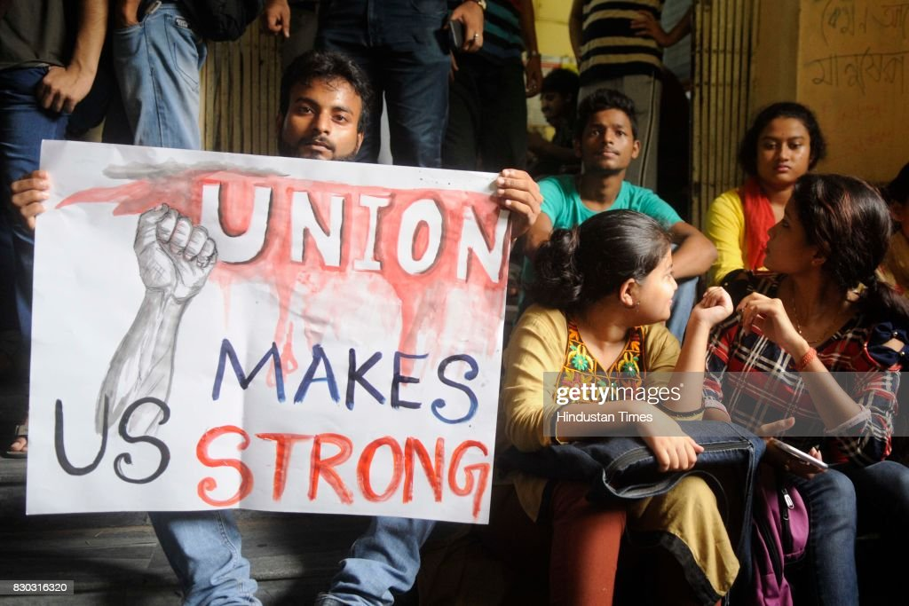 Jadavpur University Students Are Protesting Outside The News Photo Getty Images
