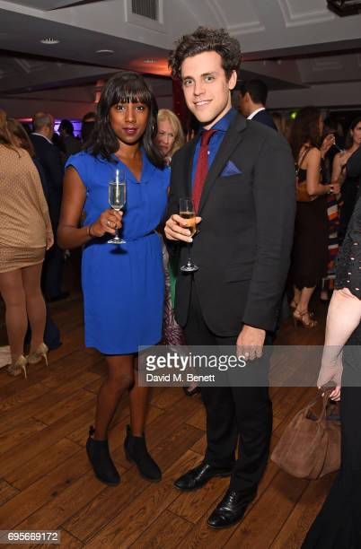 Jade Anouka and Charlie Fink attend The Old Vic 199 Summer Party at The Brewery on June 13 2017 in London England