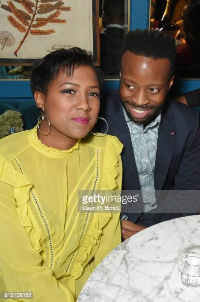 Jade Anouka and Clifford Samuel attend the InStyle EE Rising Star Party at Granary Square on February 6 2018 in London England