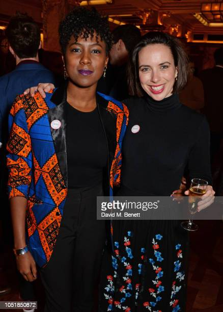 """Jade Anouka and Kate O'Flynn attend an after party for """"Happy Birthday, Harold"""", a charity gala celebrating the life and work of Harold Pinter and..."""