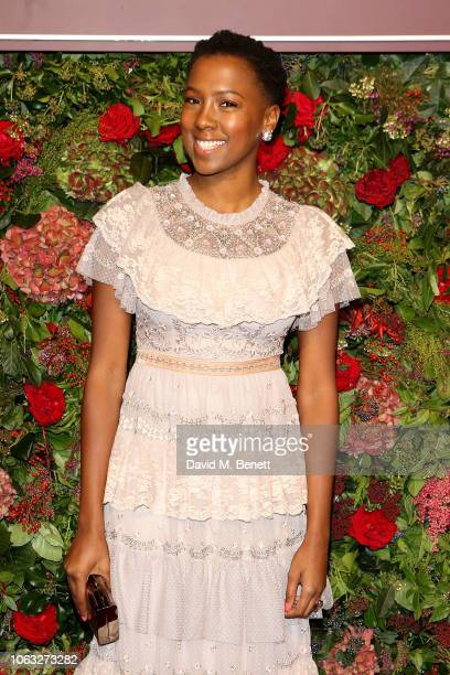 Jade Anouka arrives at The 64th Evening Standard Theatre Awards at the Theatre Royal, Drury Lane, on November 18, 2018 in London, England.