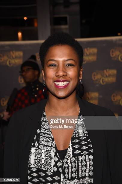 Jade Anouka attends the after party of Bob Dylan and Conor McPherson's Girl from the North Country at Mint Leaf following a sell out critically...