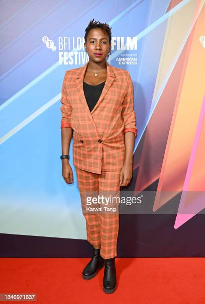 """Jade Anouka attends the """"Ear For Eye"""" World Premiere during the 65th BFI London Film Festival at BFI Southbank on October 16, 2021 in London, England."""