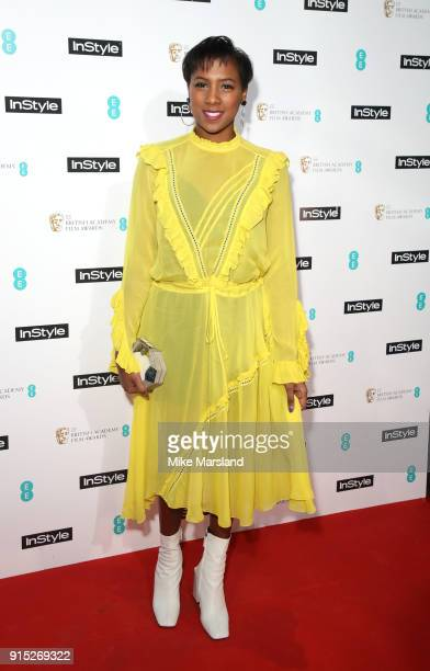 Jade Anouka attends the EE InStyle Party held at Granary Square Brasserie on February 6, 2018 in London, England.