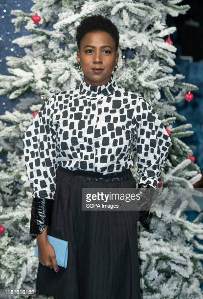 Jade Anouka attends the Last Christmas Premiere at the BFI Southbank in London.